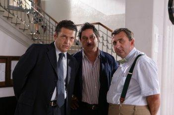 Ninni Bruschetta, Michele Di Mauro e Vito nella serie tv Fuoriclasse