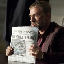 Christoph Waltz in una scena del film The Green Hornet