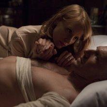 Jessica Chastain e Ralph Fiennes in una scena di Coriolanus