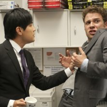 Seth Rogen e Jay Chou, protagonisti dell'action comedy The Green Hornet