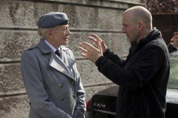 Vanessa Redgrave e Ralph Fiennes  sul set di Coriolanus