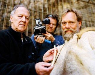 Werner Herzog, Peter Zeitlinger, Wulf Hein in una immagine di Cave of Forgotten Dreams
