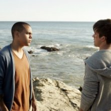 Evan Ross e Matt Lanter nell'episodio Liars di 90210