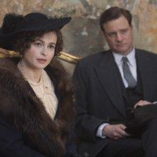 Helena Bonham Carter e Colin Firth nel film The King's Speech