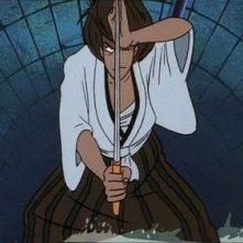 Il samurai Goemon Ishikawa in una scena di Lupin III - La Pietra della Saggezza