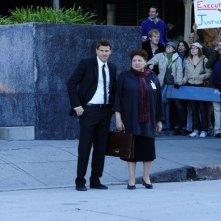 David Boreanaz e Patricia Belcher nell'episodio The Bullet in the Brain di Bones