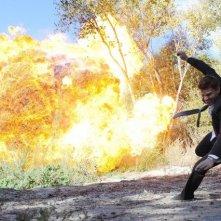 David Boreanaz in un momento dell'episodio The Bullet in the Brain di Bones