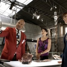 Emily Deschanel, Tamara Taylor e David Alan Grier nell'episodio The Body and the Bounty di Bones