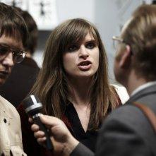 Lena Lauzemis ed August Diehl in una scena di if not us, who?, biopic dedicato alla terrorista Gudrun Ensslin