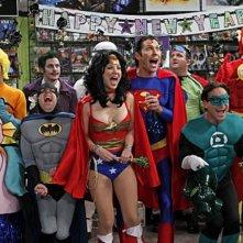 Una scena dell'episodio The Justice League Recombination di The Big Bang Theory