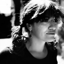 Paola Randi sul set di Into Paradiso (2010)