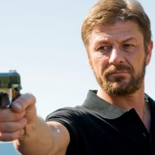 Sean Bean in una scena del film Death Race 2
