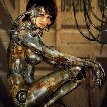 Una prima immagine del film Alita - Angelo della battaglia di James Cameron