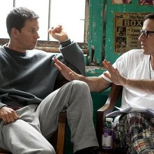 David O. Russell e Mark Wahlberg sul set di The Fighter
