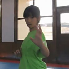 Hina Tobimatsu sul set di Karate Girl