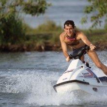 Ayrton Senna, amante dello sport, in un'immagine del film Senna