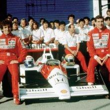 Ayrton Senna e Alain Prost in un'immagine dal film Senna