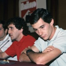Ayrton Senna in una immagine tratta dal film Senna