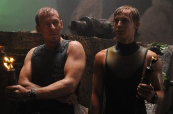 Richard Roxburgh con Rhys Wakefield in una immagine del film Sanctum 3D