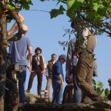 Dal set di Noi credevamo: ripresa esterna sull\'aia, località Celso di Pollica