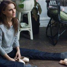 Natalie Portman in un momento drammatico di Black Swan