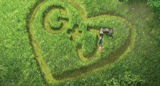 Un'immagine romantica del film Gnomeo & Juliet