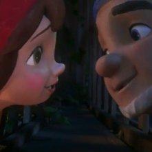 Uno gnomo blu e uno rosso nel film Gnomeo & Juliet