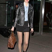 Whitney Port fuori dal suo hotel di Manhattan