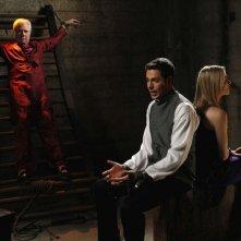 John Larroquette, Zachary Levi e Yvonne Strahovski nell'episodio Chuck Versus the Seduction Impossible