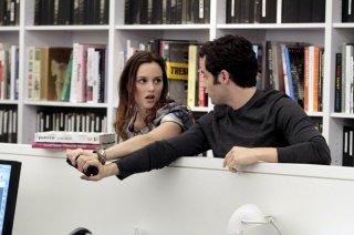 Leighton Meester e Penn Badgley al W Magazine nell'episodio Damien Darko di Gossip Girl