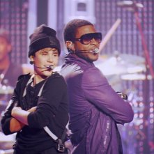 Justin Bieber con Usher in Justin Bieber: Never Say Never