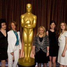Le candidate all'Oscar per la migliore attrice non protagonista Helena Bonham Carter, Melissa Leo, Jacki Weaver, Hailee Steinfeld e Amy al Nominees Luncheon della 83. edizione degli Academy Awards