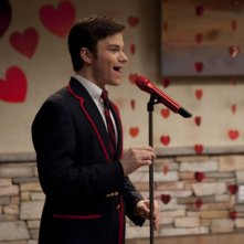 Chris Colfer nell'episodio di Glee Stupide canzoni d'amore (Silly Love Songs)