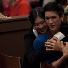 Harry Shum Jr. e Jenna Ushkowitz nell'episodio di Glee Stupide canzoni d'amore (Silly Love Songs)