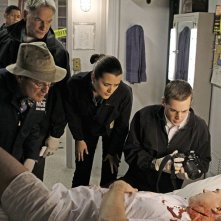 Mark Harmon, David McCallum, Cote de Pablo e Sean Murray nellepisodio A Man Walks Into a Bar... di NCIS