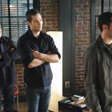 Ron Rifkin, Matthew Rhys e Luke MacFarlane nell'episodio Thanks For The Memories di Brothers & Sisters
