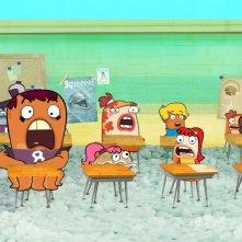 La classe di liceo in cui è ambientata la serie Fish Hooks - Vita da pesci
