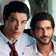 Amr Waked e Alessandro Gassman nel film Il padre e lo straniero