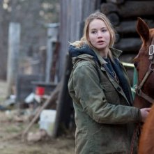 Jennifer Lawrence in un'immagine di Winter's Bone.