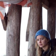 Jennifer Lawrence in una significativa immagine del film Winter's Bone