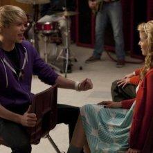 Chord Overstreet e Dianna Agron in una scena dell'episodio Comeback di Glee