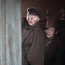 Andy Serkis e Simon Pegg in una immagine del film Burke and Hare