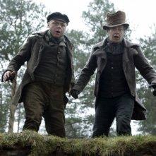 Andy Serkis e Simon Pegg, protagonisti del film Burke and Hare