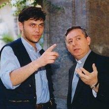 Angelo Antonucci e Leo Gullotta sul set di Dio ci ha creato gratis
