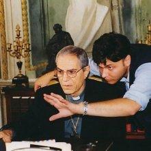 Angelo Antonucci e Nino Manfredi sul set di Dio ci ha creato gratis
