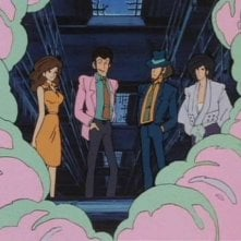 I protagonisti in una scena de Il tesoro di Al Capone della serie Lupin, l\'incorreggibile Lupin