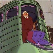Il malvagio Dottor Lonebach in una scena dell\'episodio Albatros, le ali della morte di H. Miyazaki