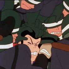 Lupin e Jigen in una scena del 145esimo di Le nuove avventure di Lupin III diretto da H. Miyazaki