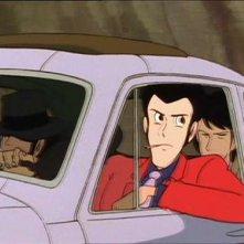 Lupin, Jigen e Goemon in una scena dell\'ultimo episodio della serie Le nuove avventure di Lupin III