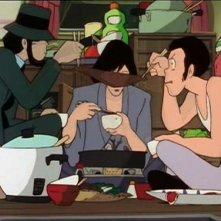 Lupin Jigen e Goemon in una scena di Albatros, le ali della morte de Le nuove avventure di Lupin III